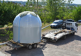 Transportation of the 3,2 m radome