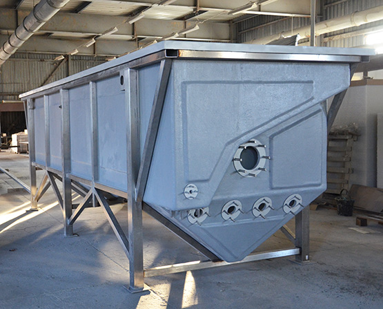 Bulk container for DAF water treatment